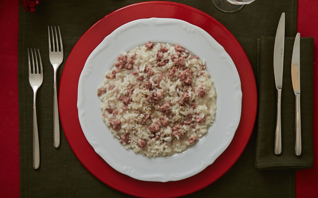 Risotto con briciole di cotechino