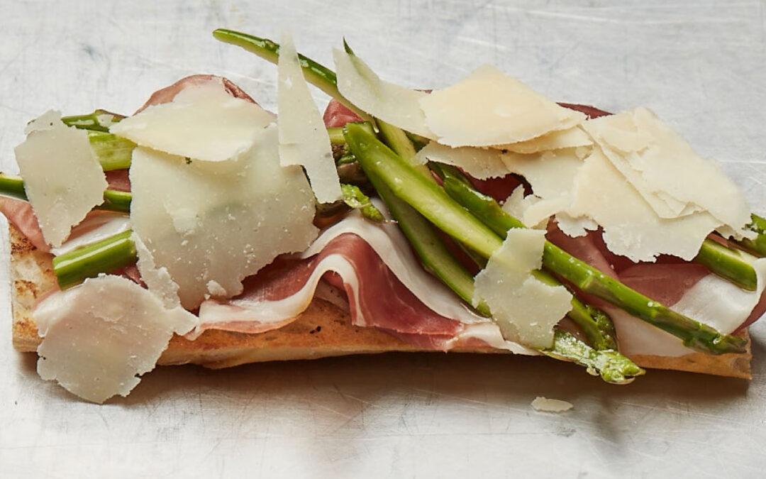 Sandwich avec aspageres, Fiocco et grana